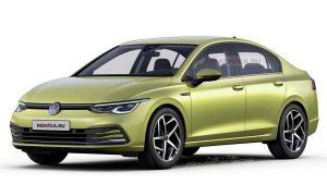 Volkswagen Golf MKVIII Sedán front render