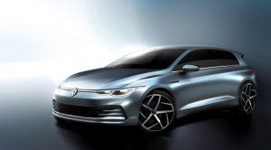 Volkswagen Golf MKVIII teaser frontal