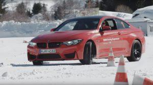BMW M4 en nieve comparativa neumáticos