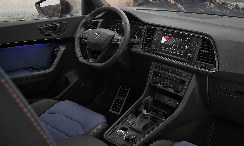 Cupra Ateca Limited Edition interior Alcantara azul