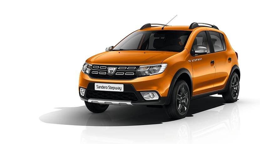 Perfil delantero del Dacia Sandero Stepwey