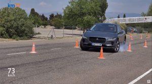 Jaguar I-Pace falla en prueba del alce