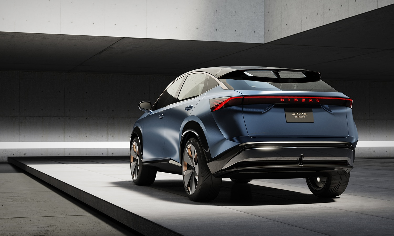 Nissan Ariya perfil trasero