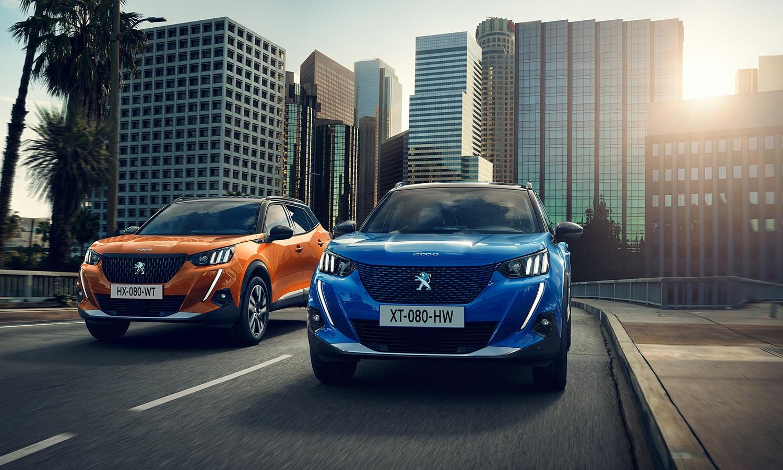 Peugeot 2008 naranja y azul