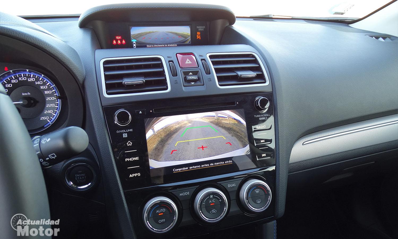 Prueba Subaru Levorg cámaras en pantallas interiores