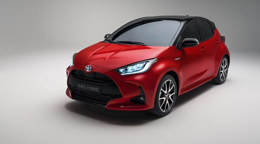 Toyota Yaris perfil delantero