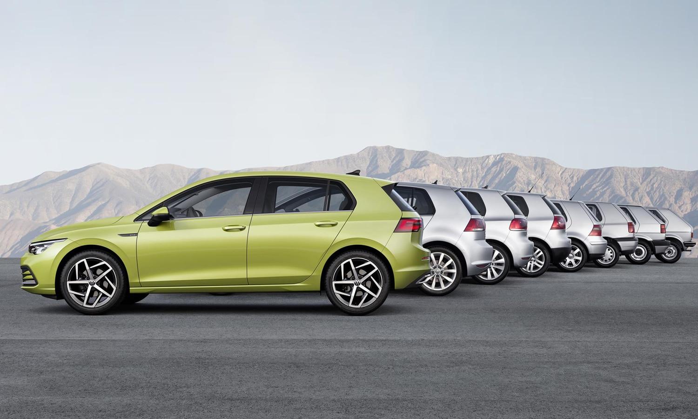 Volkswagen Golf todas generaciones lateral