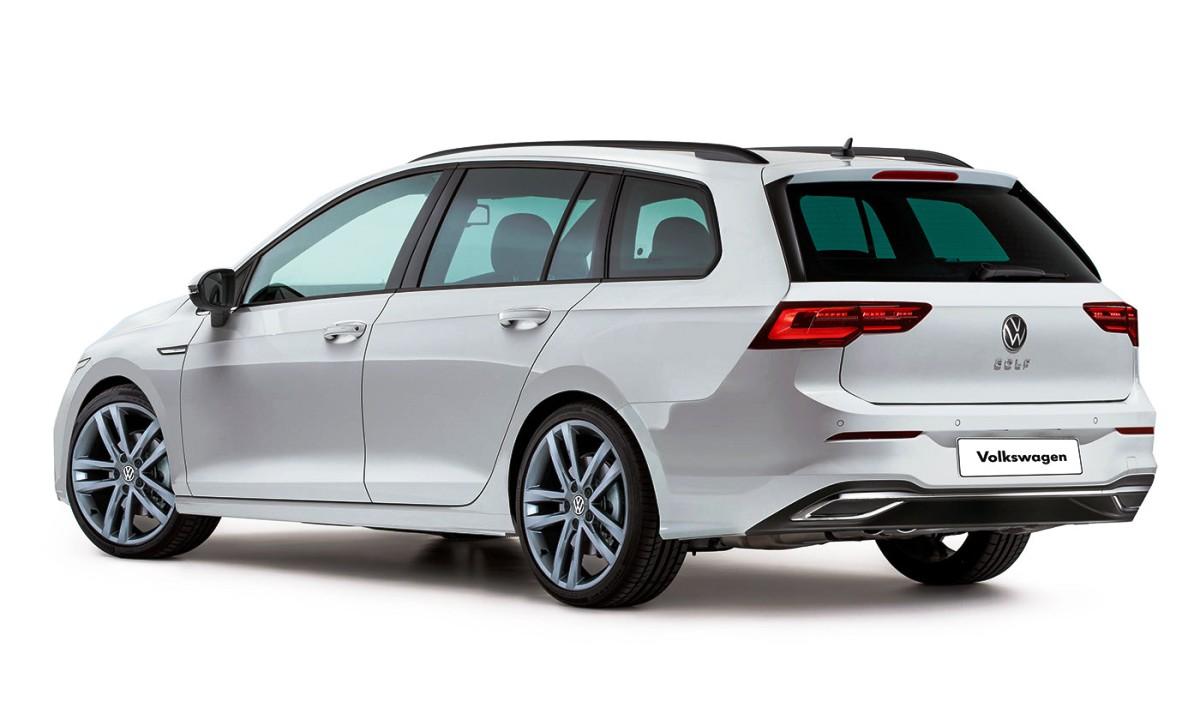 Volkswagen Golf MKVIII Variant rear render