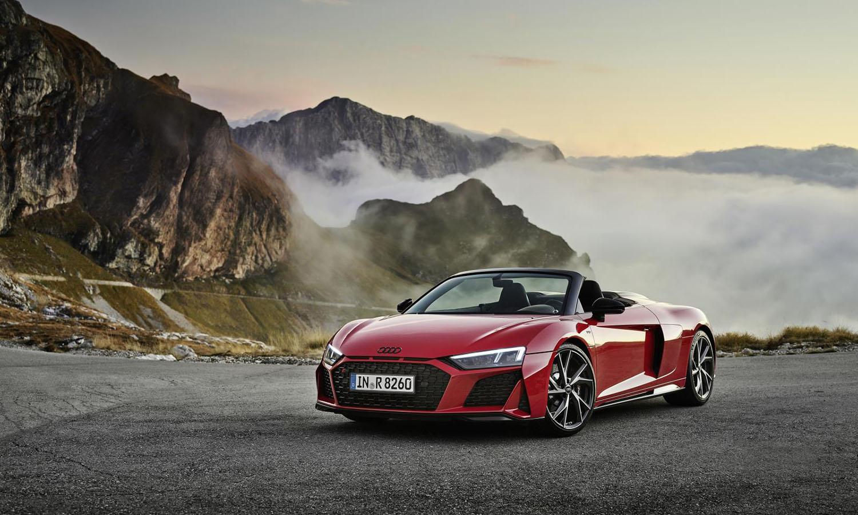 Audi R8 RWS Spyder perfil delantero