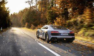 Audi R8 RWS coupé dinámica trasera