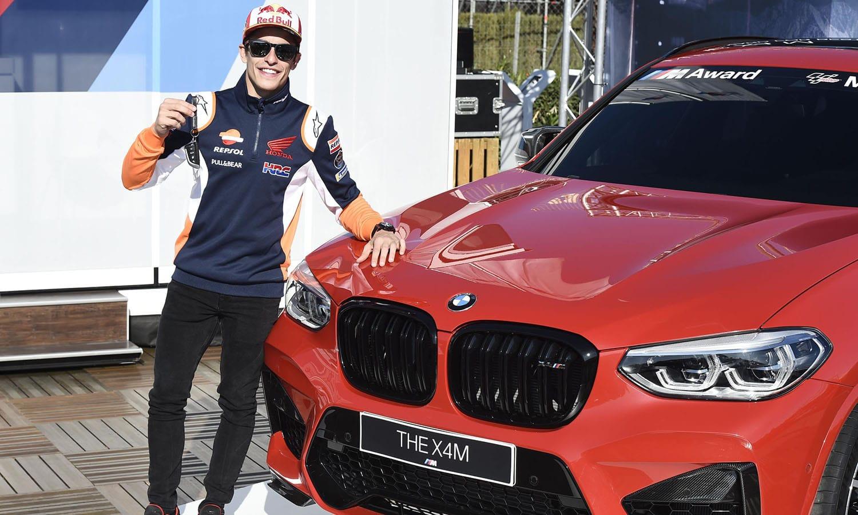 Marc Márquez y BMW X4 M Competition BMW M Award