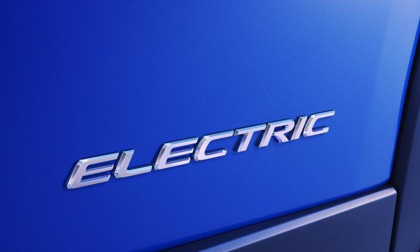 Anagrama del coche eléctrico de Lexus