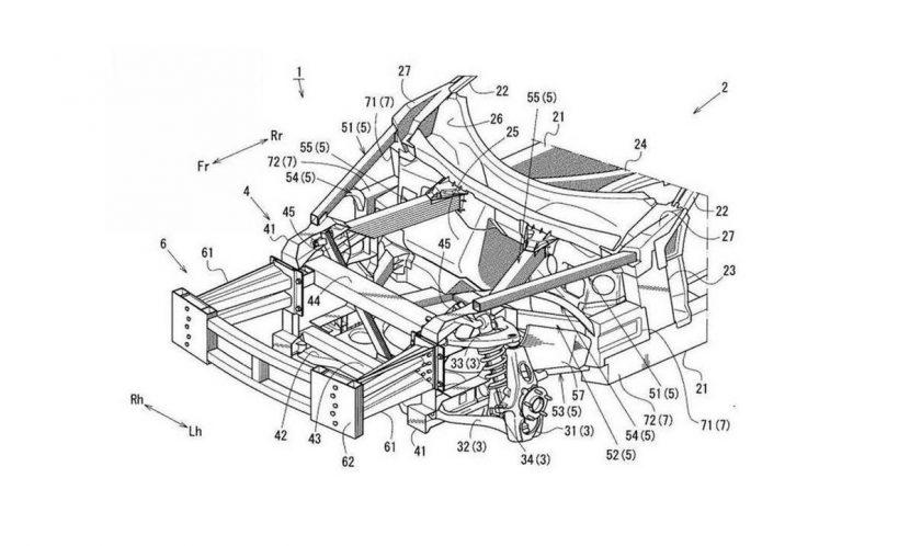 Diagrama de la patente registrada por Mazda