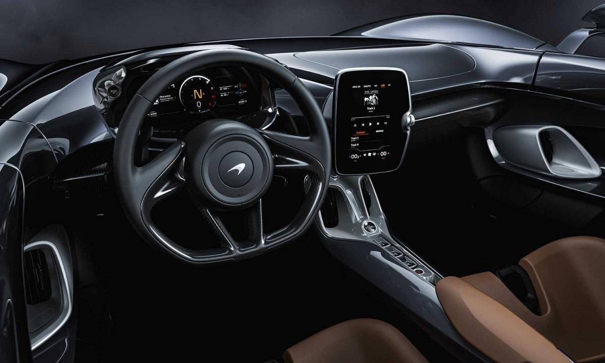 Interior del McLaren Elva