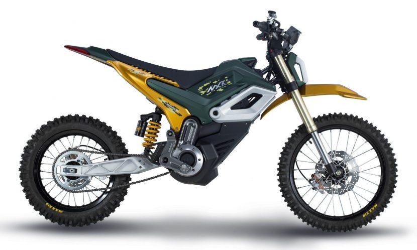Lateral de la moto eléctrica de cross Otto Bike MXR
