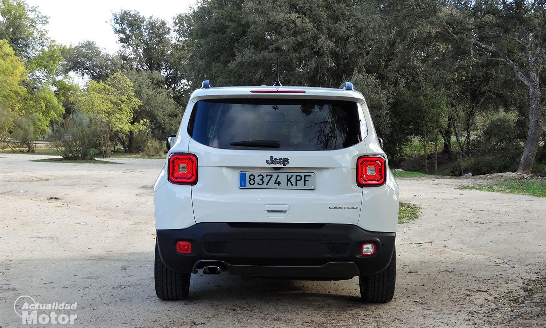 Prueba Jeep Renegade Limited 1.6 MultiJet 120 CV parte trasera