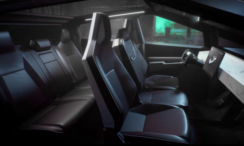 Interior de la pick-up de Tesla Cybertruck