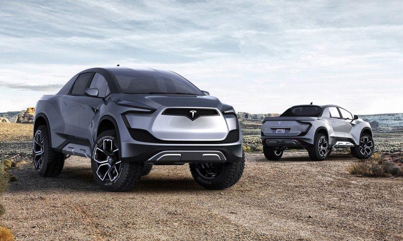 Pick -up Tesla recreación de Emre Husmen