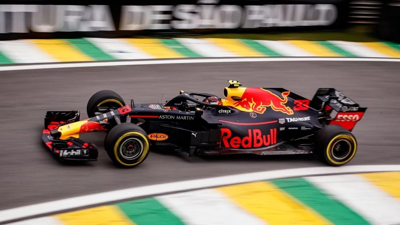 Max Verstappen en el GP de Brasil de F1 2019