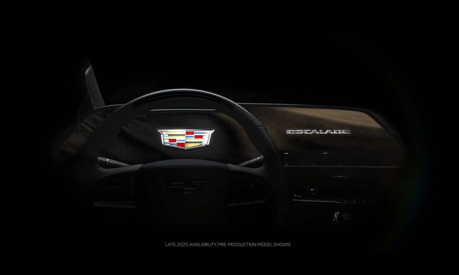 Cadillac Escalade 2021 screen OLED teaser