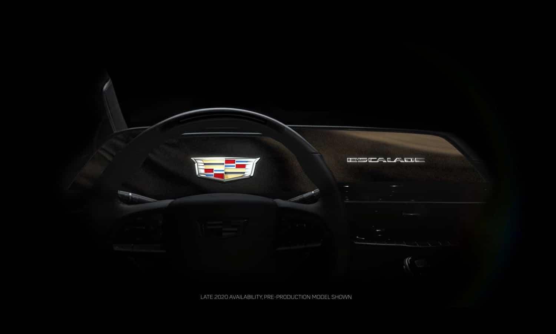 Cadillac Escalade 2021 screen OLED teaser