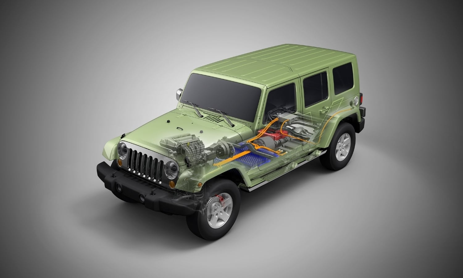 Jeep Wrangler electric prototype