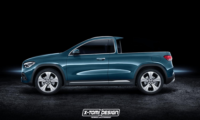 Mercedes-Benz GLA 250 Pick Up render by X-Tomi Design