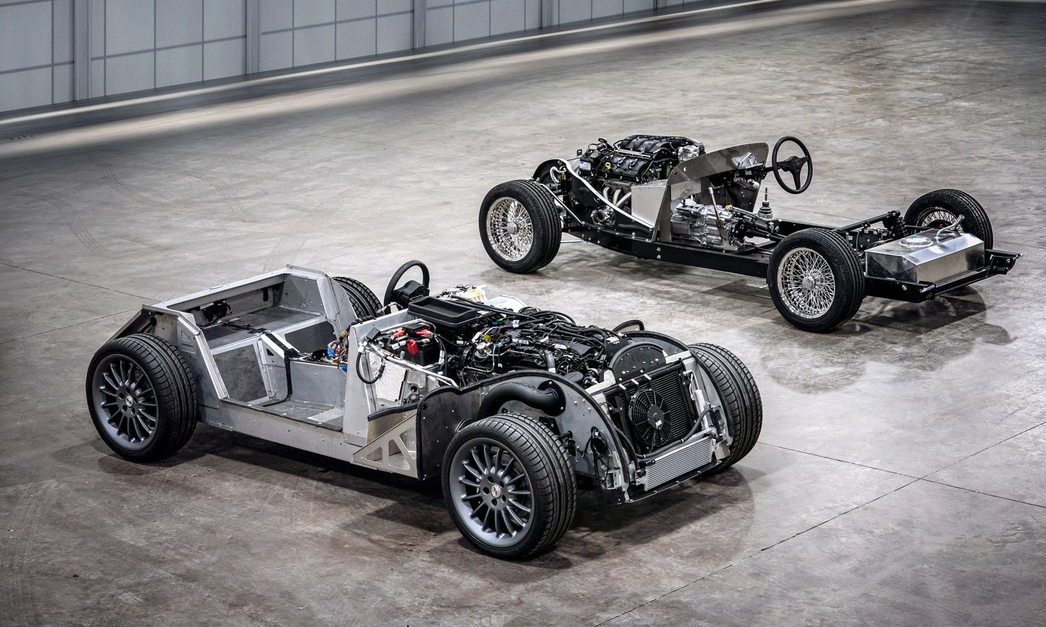 Morgan CX-Generation platform and traditional steel chassis landscape, 2019