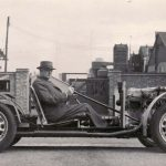 Morgan at Pickersleigh Road with 4-4 experimental chassis, 1945