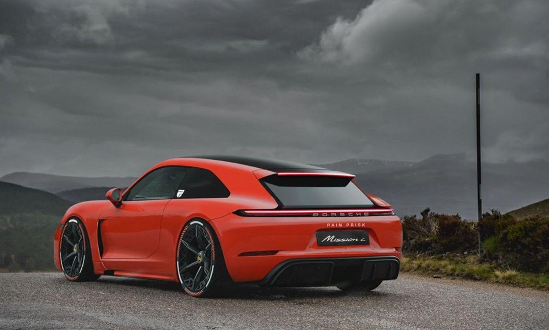 Porsche Mission C Rain Prisk render