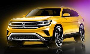 Volkswagen Atlas boceto frontal 2021