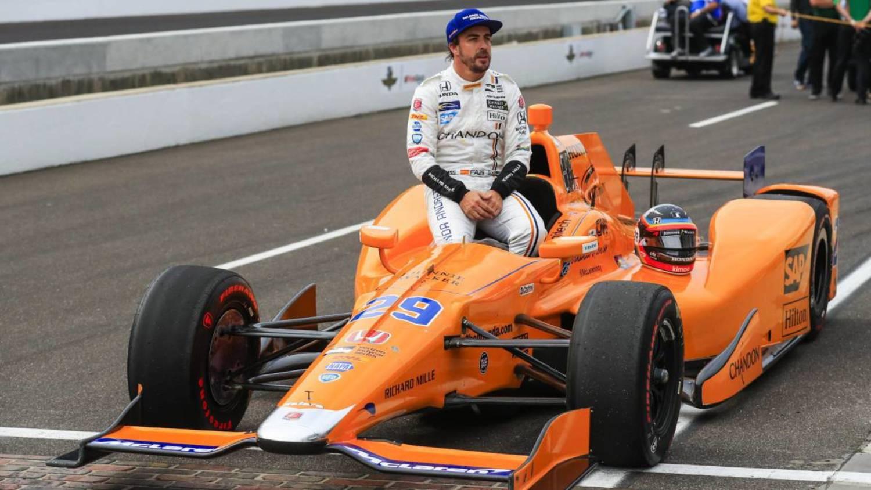 Alonso subido al Indy de Andretti