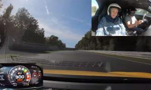 Abuela de 80 años en Nürburgring a 300 km/h con su nieto en Audi R8
