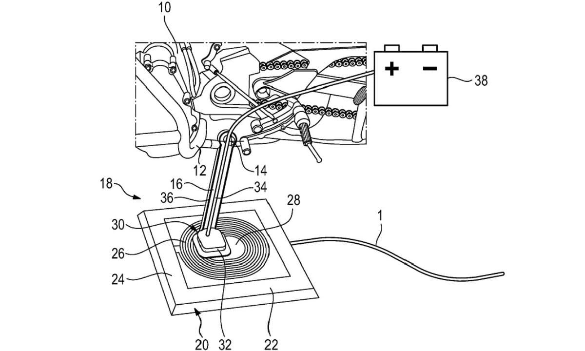 Diagrama de la patente de BMW de carga inalámbrica