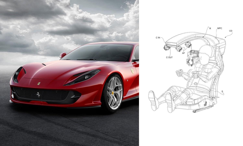 Ferrari patenta un pilar central delantero