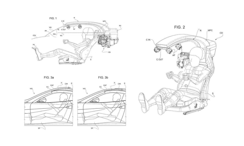 Diagramas de la patente de Ferrari