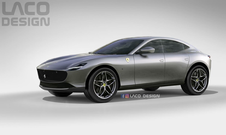 Frontal del Ferrari Purosangue de LACO Design
