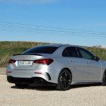 Prueba Mercedes-AMG A 35 Sedán perfil trasero