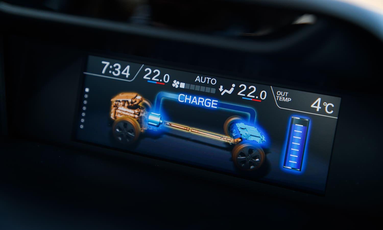Prueba Subaru Forester Eco Hybrid pantalla superior