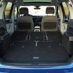 Maletero del Volkswagen Touran con asientos tumbados
