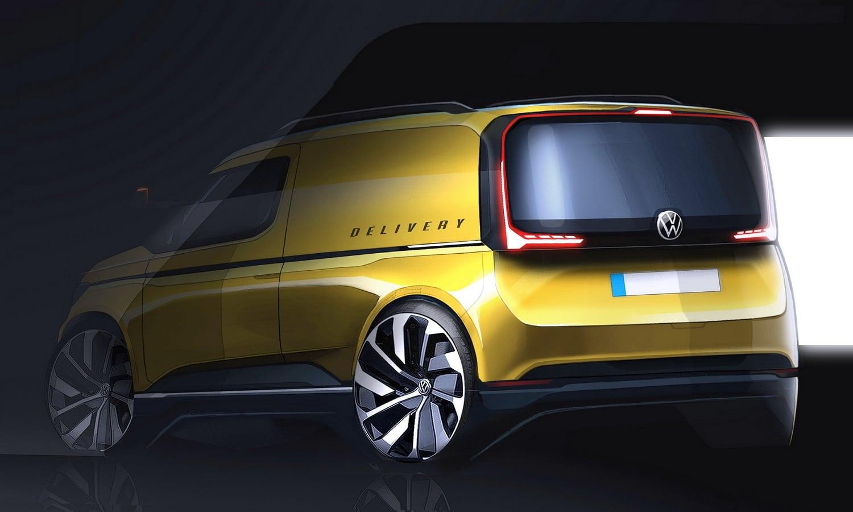 Boceto de la trasera de la Volkswagen Caddy 2020