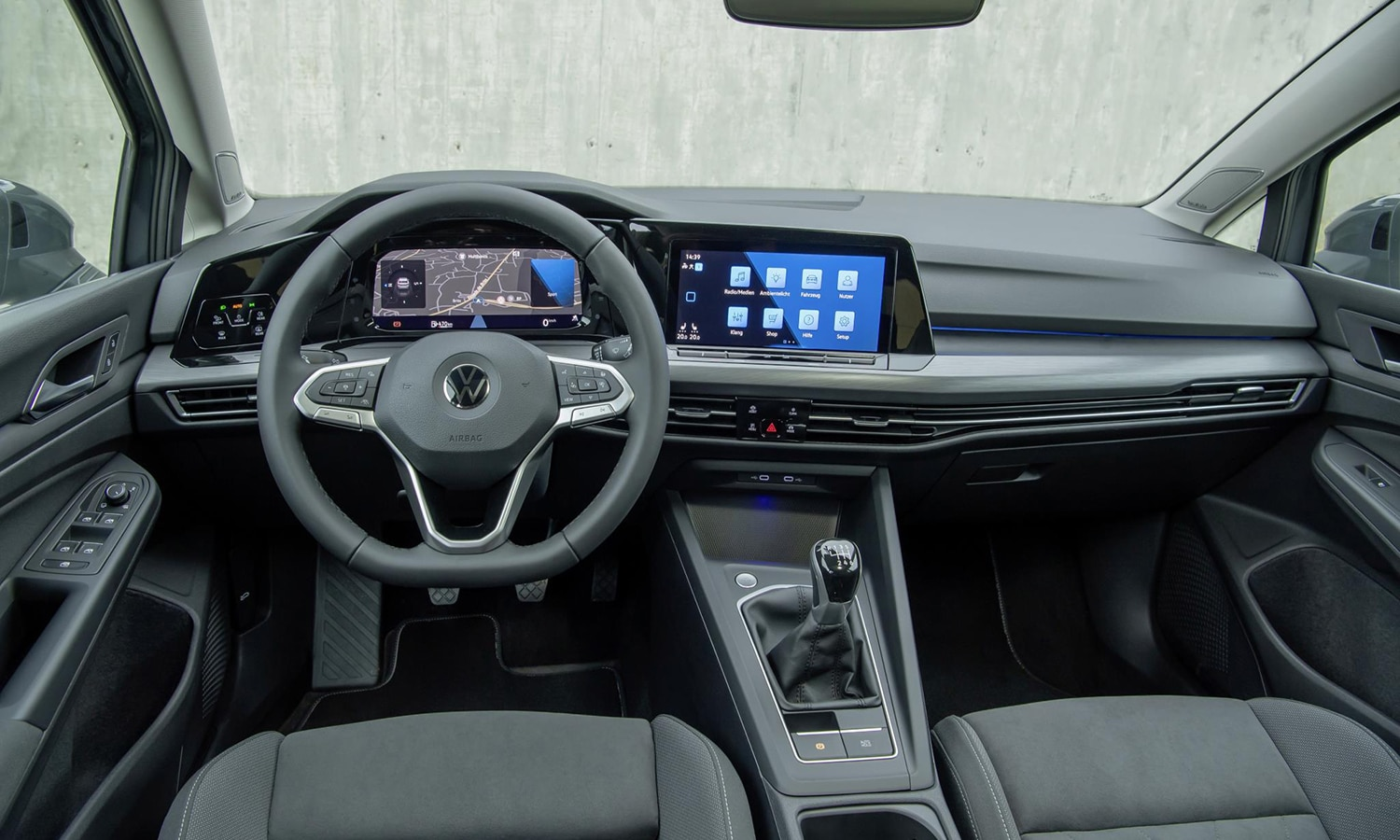 Interior del Volkswagen Golf 2020