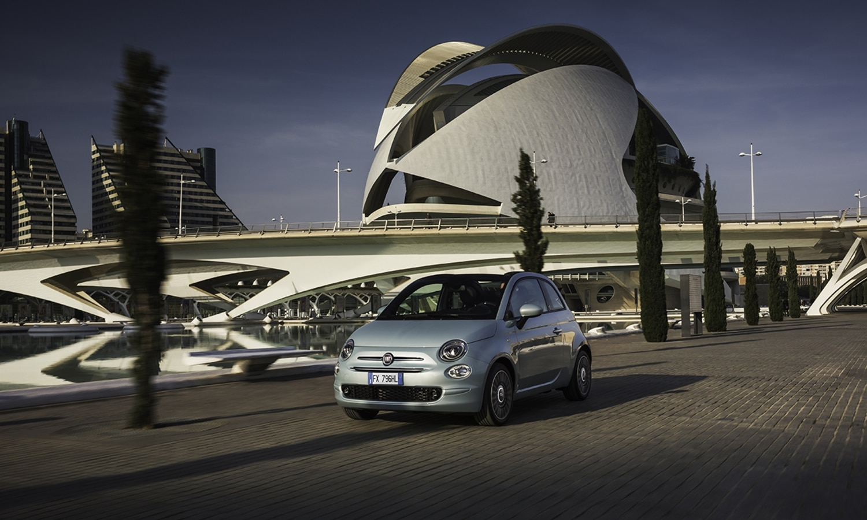 Fiat 500 Hybrid front