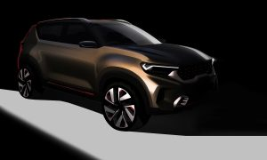 Kia Compact SUV concept teaser front