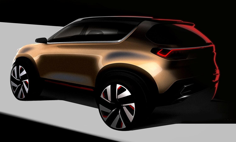 Kia Compact SUV concept teaser rear