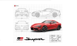 Toyota GR Supra model poster