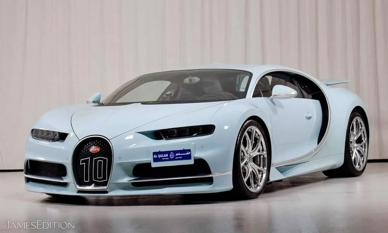 Bugatti Chiron azul claro