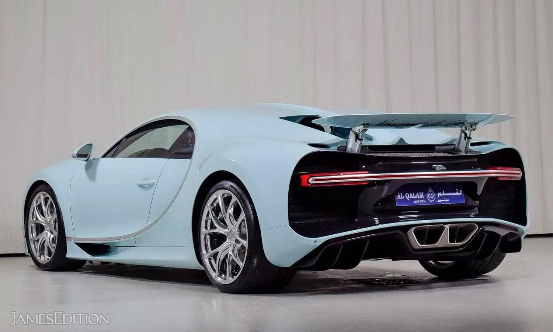 Bugatti Chiron azul claro por un millón de euros más
