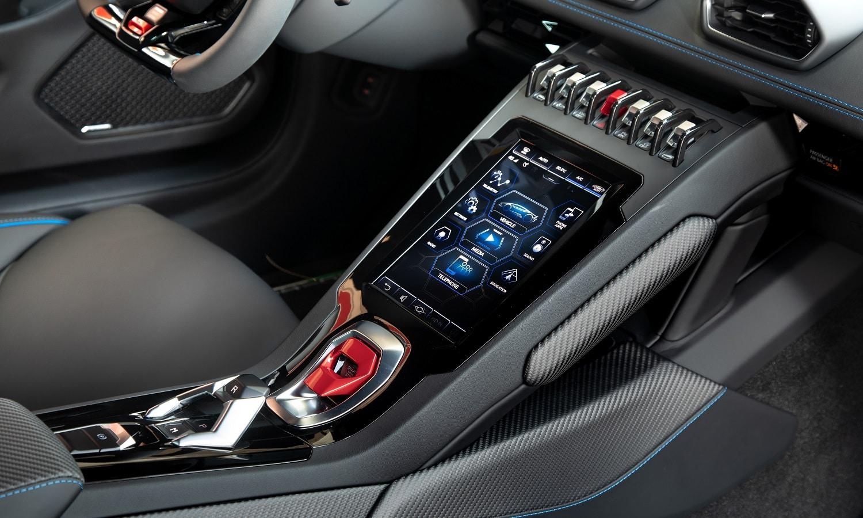 Pantalla del Lamborghini Huracan Evo 2019
