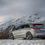 Mercedes Clase A nieve trasera